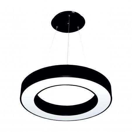 Paviršinis / Pakabinamas ant trosų apvalus LED žiedo formos 36W Juodas  - 1