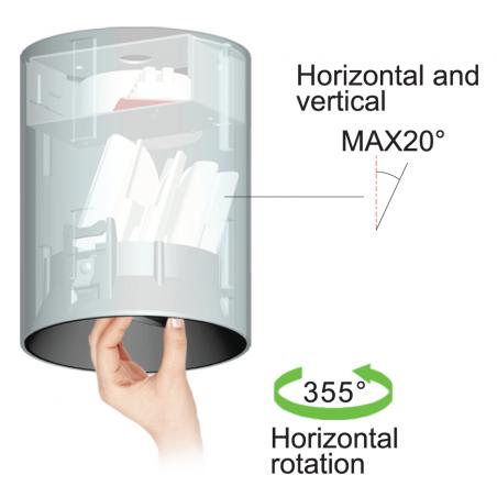15W Reguliojamas LED paviršinis šviestuvas FRESH C1026, 50°, 3000K