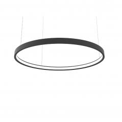 Žiedo formos šviestuvas šviečiantis į vidų 56W juodas diametras 900mm  - 1