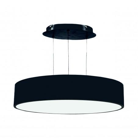 Paviršinis / pakabinamas ant trosų apvalus LED šviestuvas 40W Juodas  - 1