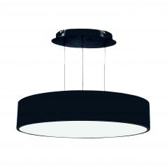 Paviršinis / pakabinamas ant trosų apvalus LED šviestuvas 60W Juodas  - 1