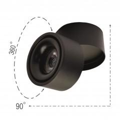Taškinis paviršinis LED šviestuvas 10W Juodas  - 1