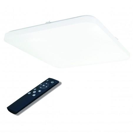 Kvadratinis lubinis 48W LED šviestuvas su belaidžiu šviesos ryškumo ir šviesos spektro reguliavimu  - 1