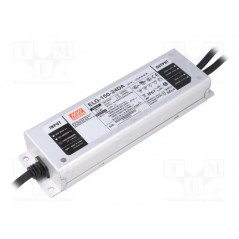 Impulsinis maitinimo šaltinis LED 24V 6.25A 150W, valdomas DALI, PFC, IP67, Mean Well  - 1