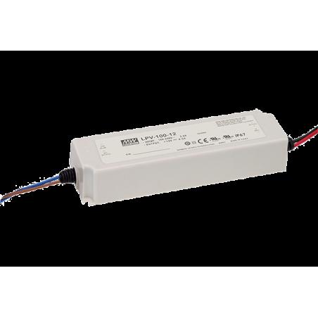 Impulsinis maitinimo šaltinis 24V 4.2A 100W IP67 Mean Well  - 1
