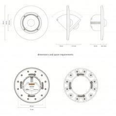 DALI šviesos ir būvio jutiklis įleidžiamas / paviršinis