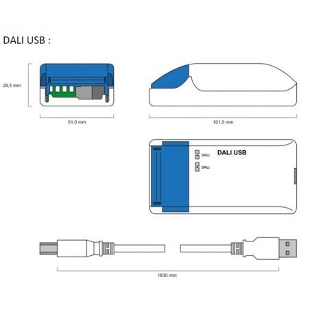 DALI apšvietimo sistemos USB sąsaja programavimui