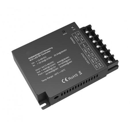 RGBW / RGB / CCT / 4 kanalų LED juostų radiobanginis imtuvas  - 1