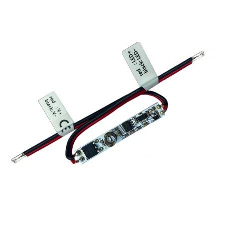 LED juostų valdymo sistemos lietimui jautrus valdiklis 12 - 24V 1x3A vienos spalvos  - 1