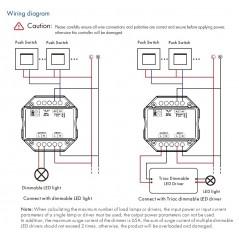 Apšvietimo valdymo sistemos radiobanginis imtuvas, AC PUSH-DIM, TRIAC
