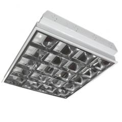 4xT8 LED lempų įleidžiamas šviestuvas 600x600mm, su T8 9W 4000K LED lempom  - 1