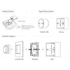 Belaidis šviesos intensyvumo reguliatorius - siūstuvas RF 2,4GHz  - 3
