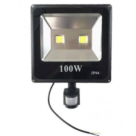 LED Prožektorius su judesio davikliu 100W, IP66  - 1