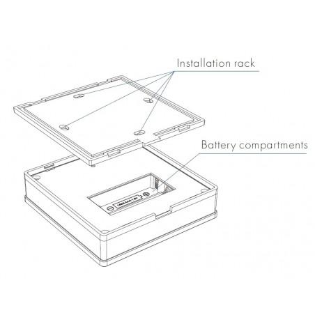 Lietimui jautrus RGBW LED juostų valdymo sistemos nuotolinis pultas, 4 zonos, baltas