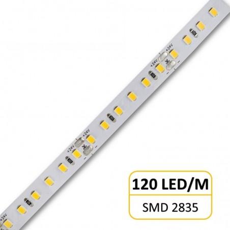 20W LED juosta šiltai balta 24V 120 LED/M 2400 lm/M  - 1