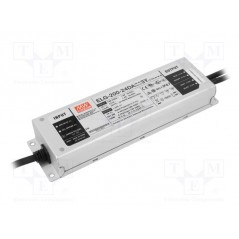 Impulsinis maitinimo šaltinis LED 24V 8.4A 200W, valdomas DALI, PFC, IP67, Mean Well  - 1