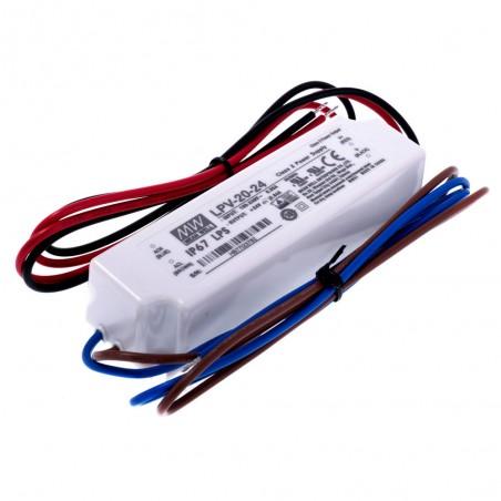 Impulsinis maitinimo šaltinis 24V 0.84A 20W IP67 Mean Well  - 1