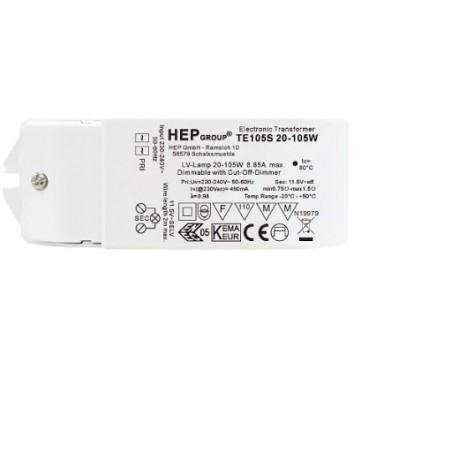 Elektroninis transformatorius halogeninėms lempoms TE 105S 20-105W  - 1