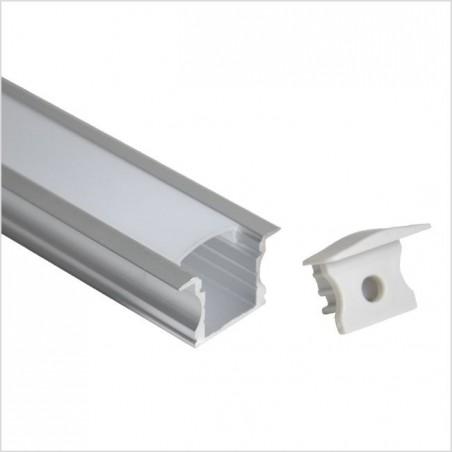 LED profilis su sklaidytuvu BN-K, įleidžiamas 3000x25(17.5)x15 mm  - 1