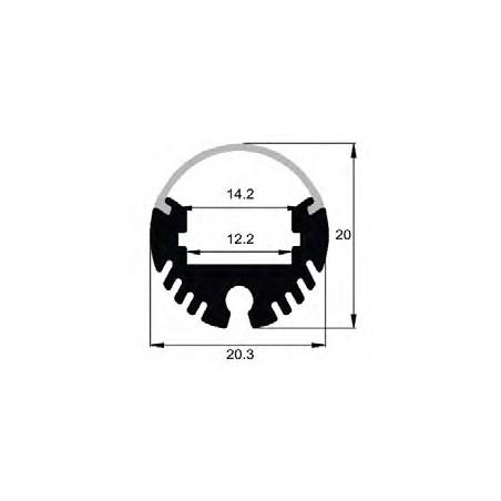 LED profilis su sklaidytuvu BN-F, pakabinamas 3000xØ20 mm
