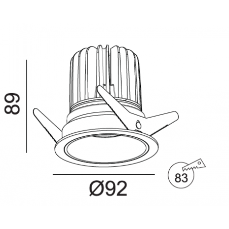 Įleidžiamas LED šviestuvas TIFFANY R1354 15W, 3000K, 36°