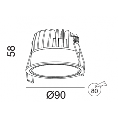 Įleidžiamas LED šviestuvas VIGOROUS R3027 10W, 3000K, IP44