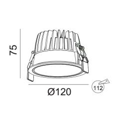 Įleidžiamas LED šviestuvas VIGOROUS R3028 15W, 3000K, IP44