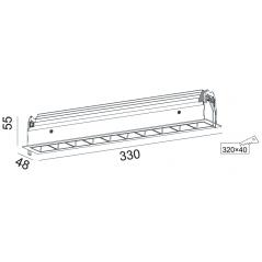 Įleidžiamas LED šviestuvas UNIQUE R1157 10x3W, 50°, 3000K