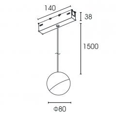 Magnetinis pakabinamas šviestuvas VPB6080NR, 5W, 3000K