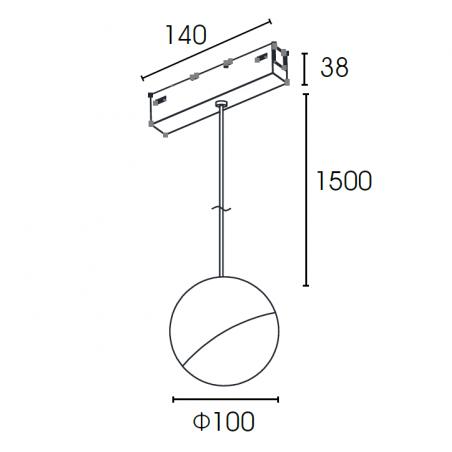 Magnetinis pakabinamas šviestuvas VPB6100NR, 10W, 3000K