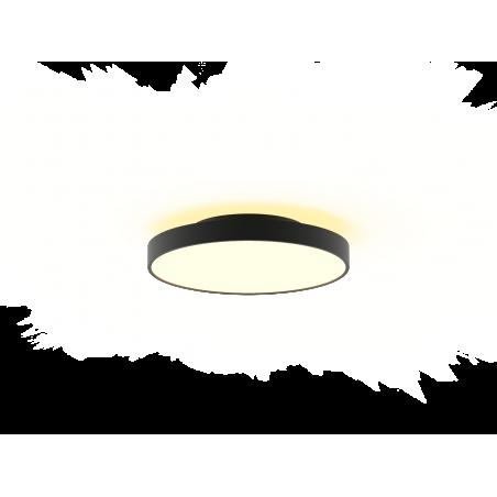 Lubinis LED šviestuvas Corona 36W žemyn +12W aukštyn, Baltas / Juodas  - 1