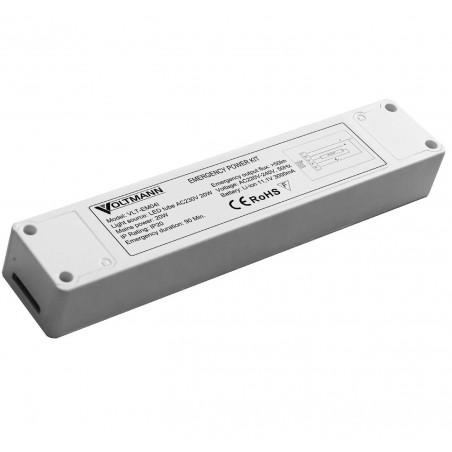 Avarinio apšvietimo modulis LED šviestuvams su vidiniu maitinimo šaltiniu iki 20W galios. Integruotas akumuliatorius 1val. avari