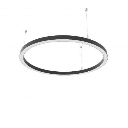 Žiedo formos šviestuvas 23W Slim juodas Diametras 600mm  - 1