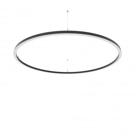 Žiedo formos šviestuvas 48W Slim juodas Diametras 1270mm  - 1