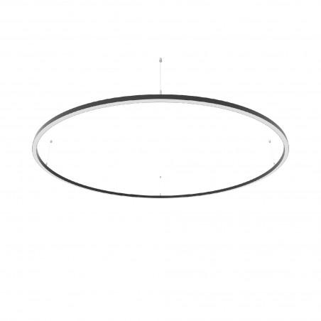 Žiedo formos šviestuvas 65W Slim juodas Diametras 1750mm  - 1
