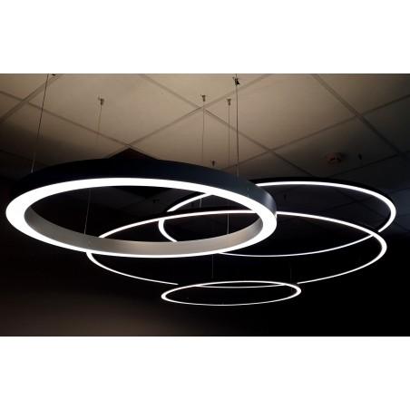 Žiedo formos šviestuvas juodas diametras 910mm  - 1