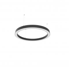 Žiedo formos šviestuvas juodas diametras 910mm