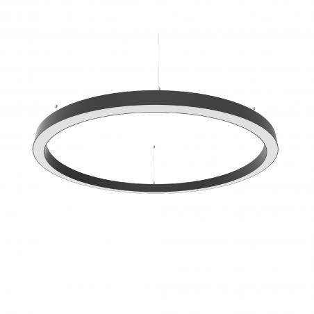 Žiedo formos šviestuvas juodas diametras 1270mm  - 1