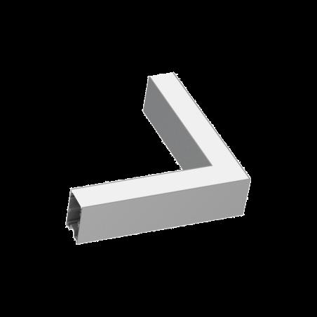 Kampinis Sujungimas Fluo Corner 3000K Aliuminio Spalvos 191416  - 1