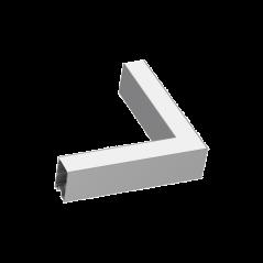 Kampinis Sujungimas Fluo Corner 4000K Aliuminio Spalvos 191980  - 1