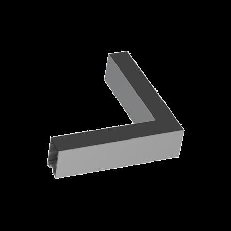 Kampinis Sujungimas Fluo Corner Blinded Aliuminio Spalvos 191478  - 1
