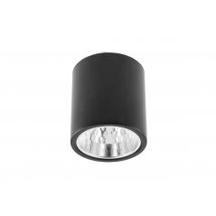 Paviršinis apvalus šviestuvas DRAGO, juodas, 133x148mm  - 1