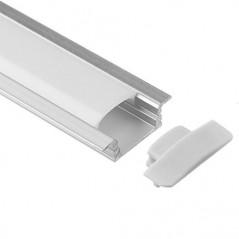 LED profilis su sklaidytuvu BN-B, įleidžiamas, 3000mm  - 2