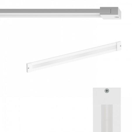 Paviršinis šviestuvas, šlifuotas aliuminis 8,4W 3000K, su išoriniu maitinimo šaltiniu  - 1