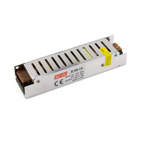 LED maitinimo šaltinis 60W-12V-5A IP20  - 1