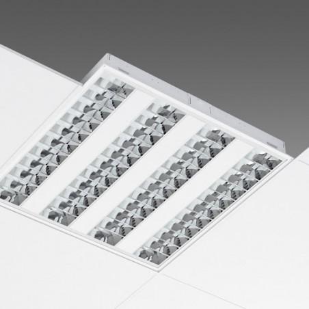 4x14W T5 liuminescencinių lempų įleidžiamas šviestuvas 600x600mm, EVG, be lempų  - 1