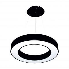 Paviršinis / Pakabinamas ant trosų žiedo formos LED šviestuvas 30W Juodas