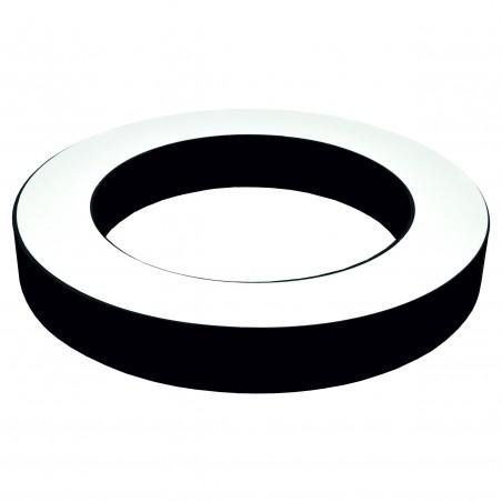 Paviršinis / Pakabinamas ant trosų žiedo formos LED šviestuvas 30W Juodas  - 1