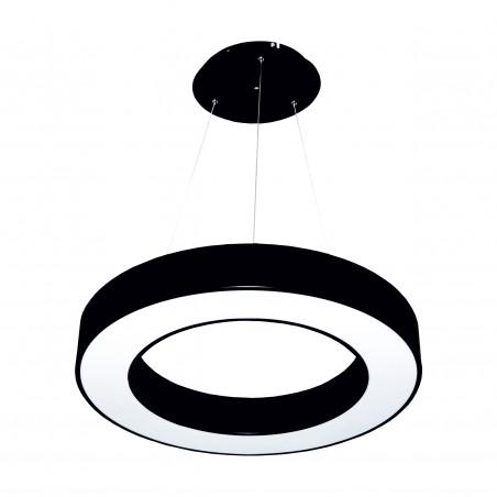 Paviršinis / Pakabinamas ant trosų žiedo formos LED šviestuvas 48W Juodas