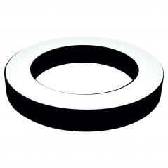 Paviršinis / Pakabinamas ant trosų žiedo formos LED šviestuvas 48W Juodas  - 1